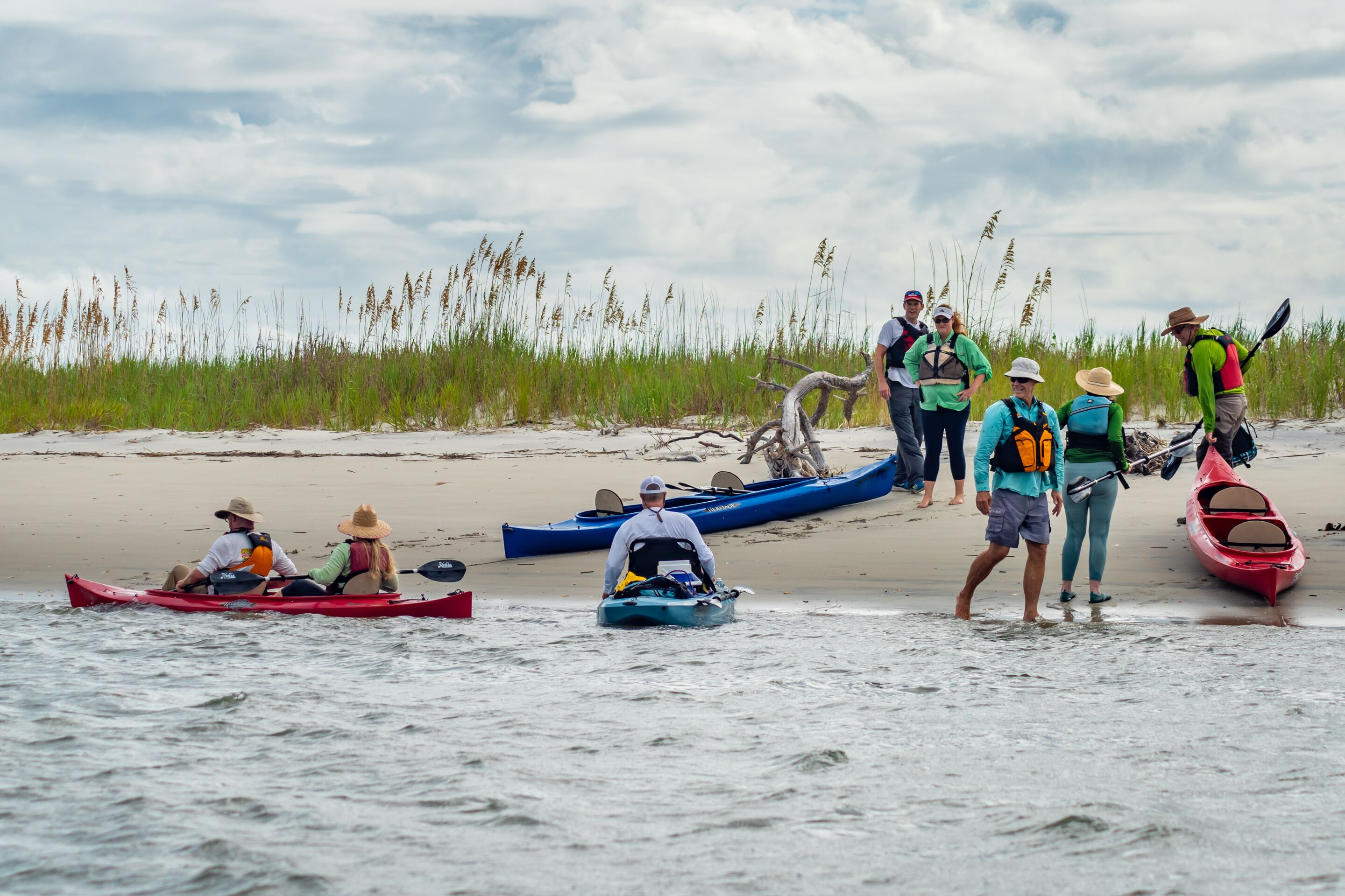Reserve and Surf the Earth lead a naturalist-guided tour through of North Inlet estuary. The trip includes all equipment and instruction in basic kayaking, a natural history overview, and educational and research highlights of the North Inlet ecosystem.