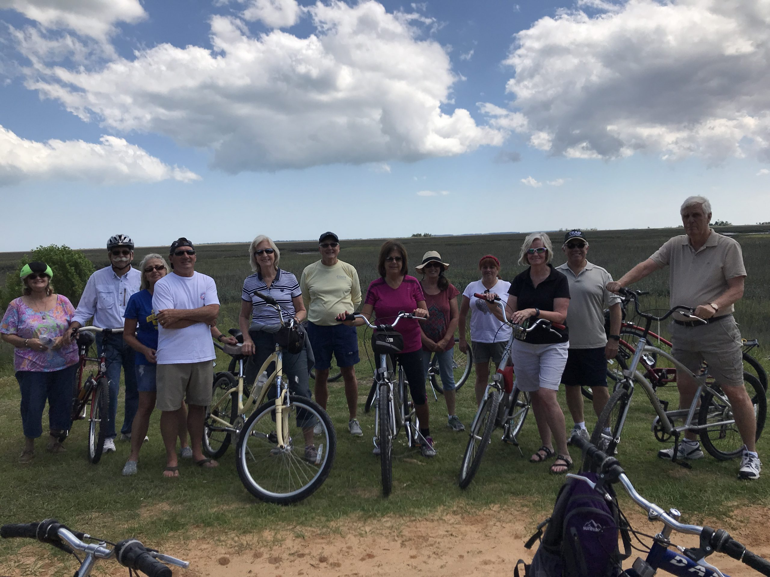 Picture of participants in the bike to the boardwalk program